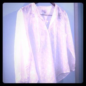 JCrew white cotton blouse